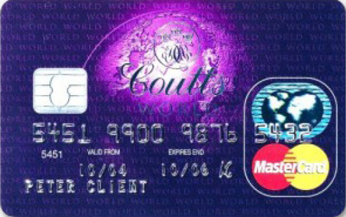 карта Coutts Purple World MasterCard